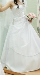 продам белое свадебное платье б/у