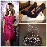 Вечернее платье+туфли,  сумка