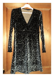 Платье бархатное Леопард