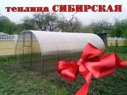Теплица «Сибирская» из сварной оцинкованной трубы 10x3x2