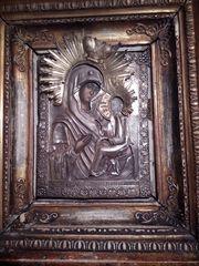 Старинная икона исполненная на дереве 18 века