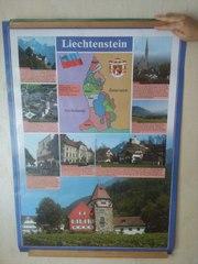 Плакат Люксембург Лихтенштейн